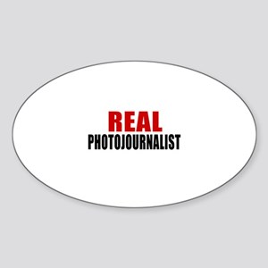 Real Photojournalist Sticker (Oval)