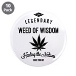 "Legendary Weed Of Wisdom 3.5"" Button (10 Pack"