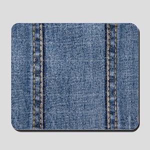Faded Blue Denim A (Vertical) Mousepad