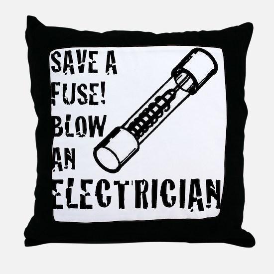 Unique Electrician Throw Pillow