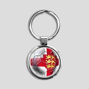 English 3 Lions Football Keychains