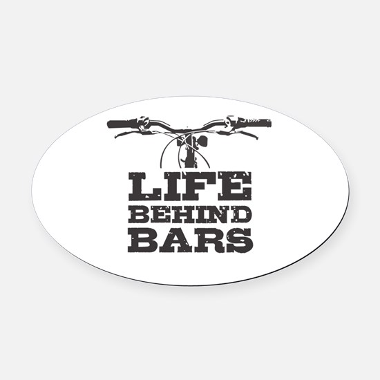 Funny Bars Oval Car Magnet