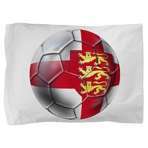 English 3 Lions Football Pillow Sham