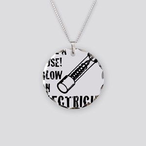 save a fuse blow an electric Necklace Circle Charm