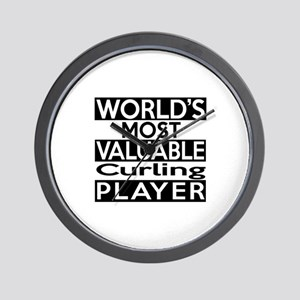 Most Valuable Curling Player Wall Clock