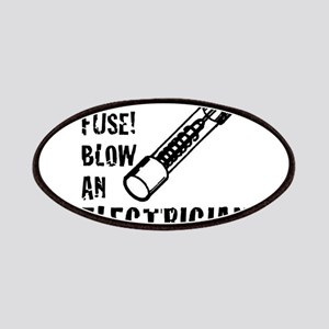 save a fuse blow an electrician funny sparky Patch