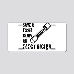 save a fuse blow an electri Aluminum License Plate