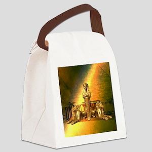 Anubis, the egyptian god Canvas Lunch Bag