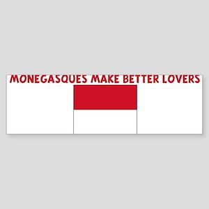 MONEGASQUES MAKE BETTER LOVER Bumper Sticker