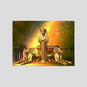 Anubis, the egyptian god 5'x7'Area Rug