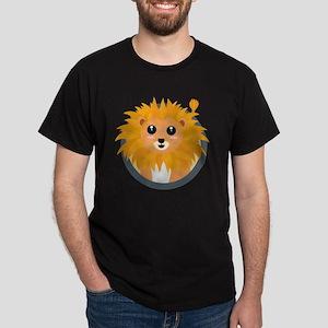 Kawaii lion with circle T-Shirt
