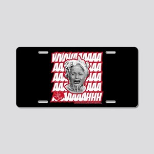 I Love Lucy Cry Baby Aluminum License Plate