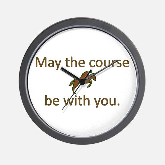 May the course be with you - EQUESTRIAN Wall Clock