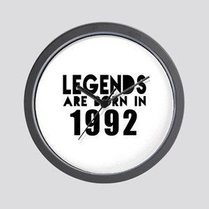 Legends Are Born In 1992 Wall Clock