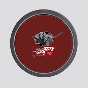 I Love Lucy: Ricky To My Lucy Wall Clock