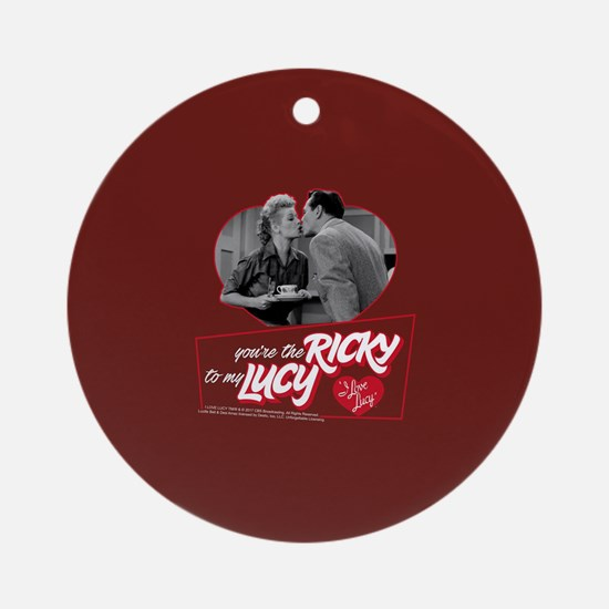 I Love Lucy: Ricky To My Lucy Round Ornament