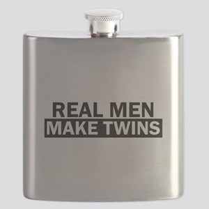 Real Men Make Twins Funny Flask