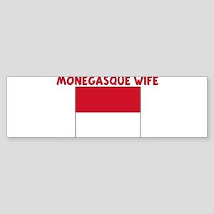 MONEGASQUE WIFE Bumper Sticker