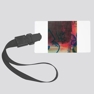 Photographs of fine art and stre Large Luggage Tag
