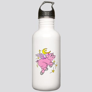 Pink Flying Pig #2 Stainless Water Bottle 1.0L