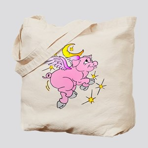 Pink Flying Pig #2 Tote Bag