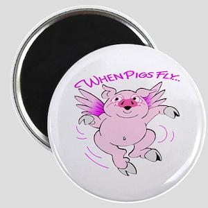 Pink Flying Pig #3 Magnet