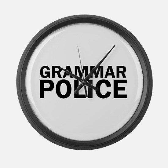 Grammar Police Funny Cute Large Wall Clock