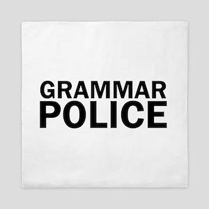 Grammar Police Funny Cute Queen Duvet