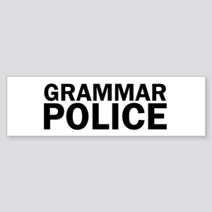 Grammar Police Funny Cute Bumper Sticker