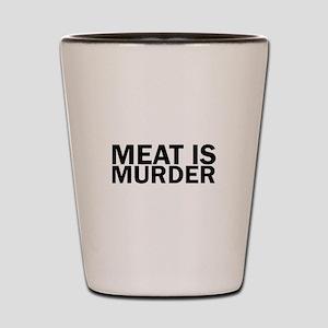 Meat Is Murder Vegetarian Vegan Bold Shot Glass