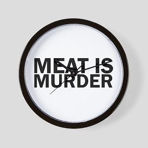 Meat Is Murder Vegetarian Vegan Bold Wall Clock