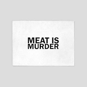 Meat Is Murder Vegetarian Vegan Bol 5'x7'Area Rug