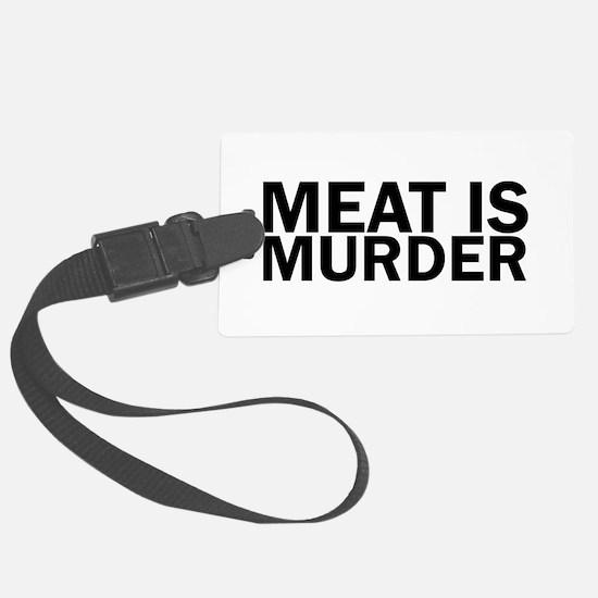 Meat Is Murder Vegetarian Vegan Luggage Tag