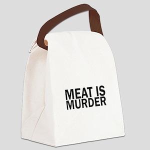 Meat Is Murder Vegetarian Vegan B Canvas Lunch Bag