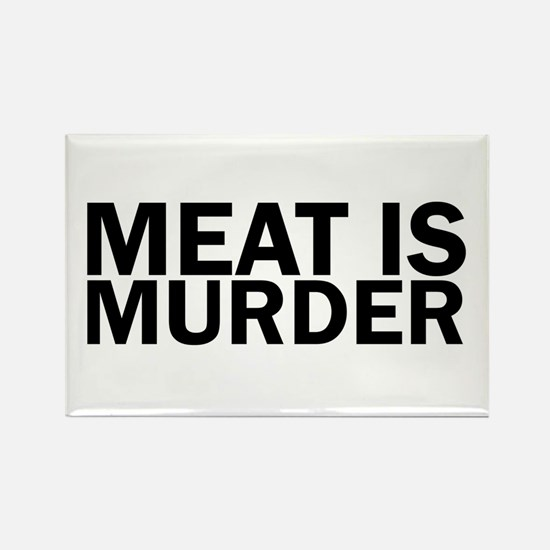 Meat Is Murder Vegetarian Vegan Bold Magnets