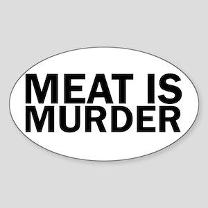 Meat Is Murder Vegetarian Vegan Bold Sticker