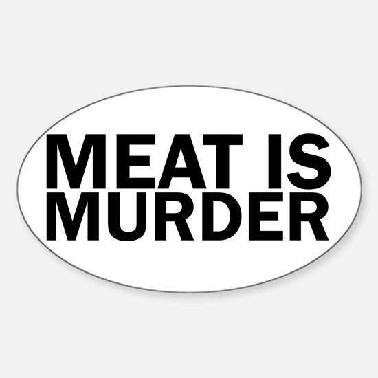 Meat Is Murder Vegetarian Vegan Bold Decal