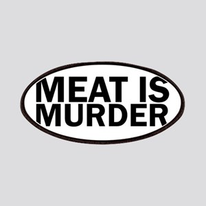 Meat Is Murder Vegetarian Vegan Bold Patch