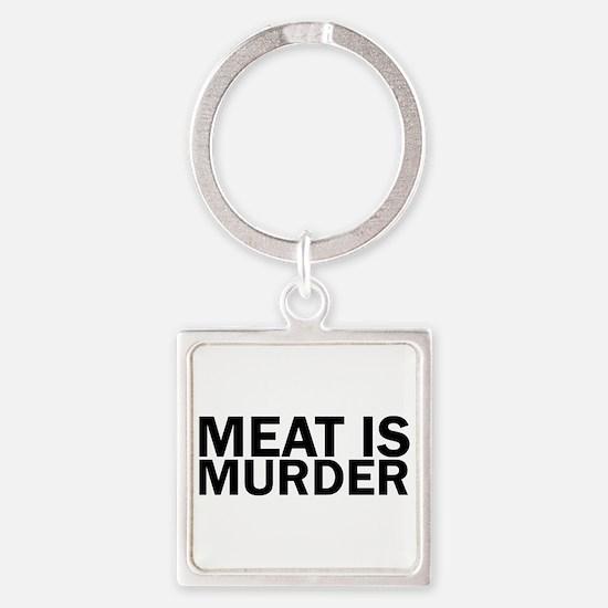 Meat Is Murder Vegetarian Vegan Bold Keychains