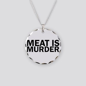 Meat Is Murder Vegetarian Ve Necklace Circle Charm