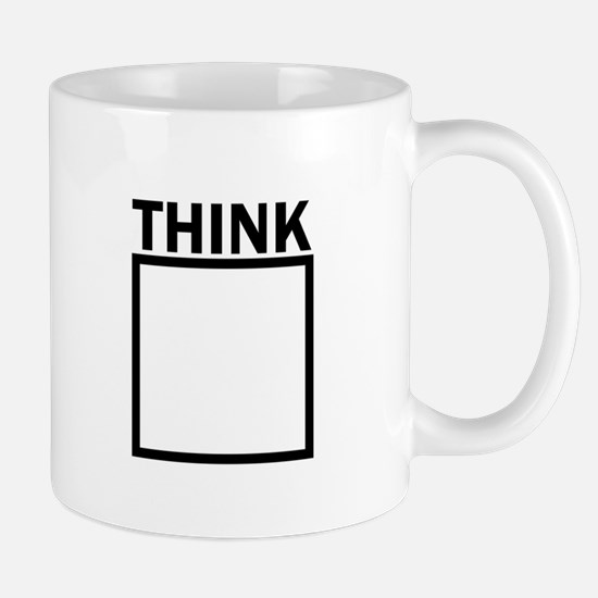 Think Outside The Box Funny UNique Mugs