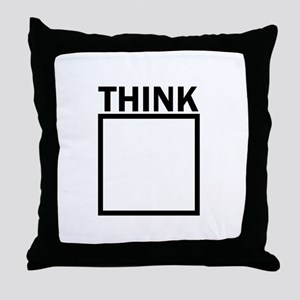 Think Outside The Box Funny UNique Throw Pillow