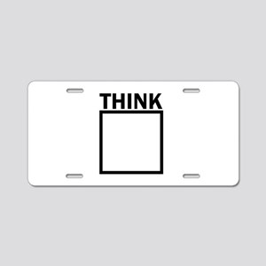 Think Outside The Box Funny Aluminum License Plate