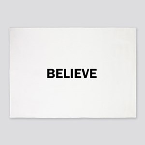 Believe Inspiration Motivation Bold 5'x7'Area Rug