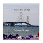 Mackinac Bridge St. Ignace Spring Tile Coaster