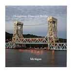 Houghton - Hancock Bridge Dusk Tile Coaster