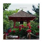 Enger Tower Japanese Peace Bell Tile Coaster