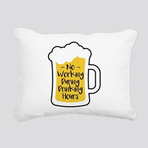 Drinking Hours Rectangular Canvas Pillow
