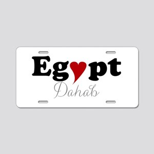 Egypt with Heart Aluminum License Plate