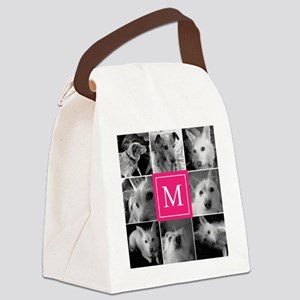 Photo Block with Rose Monogram Canvas Lunch Bag